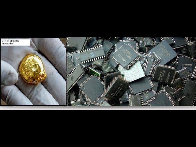 Como Extraer Oro De Circuitos Integrados Parte 1 How Extracting Gold From Integrated Circuits Youtube