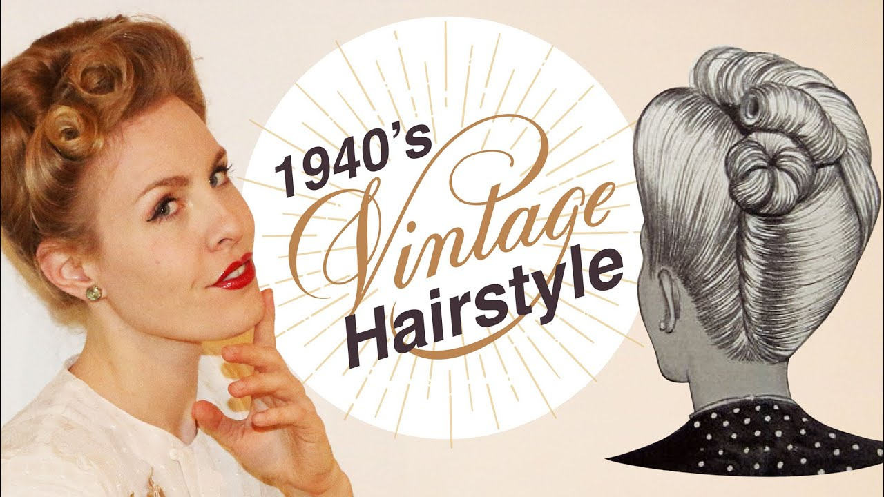 1940 S Inspired Vintage Updo Hairstyle Tutorial Youtube