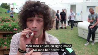 The 1975's - Matty Healy Interview. 23.06.2016. Denmark. FULL HD.
