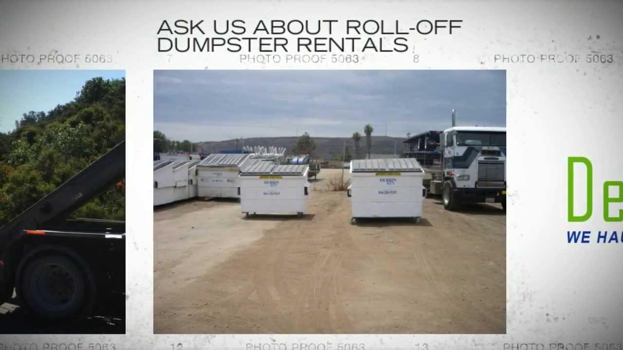 Dumpster Rentals in San Diego CA - Junk & Trash Hauling