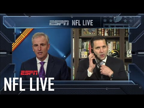 Adam Schefter breaks news of Cardinals releasing Chris Johnson live on air | NFL Live | ESPN