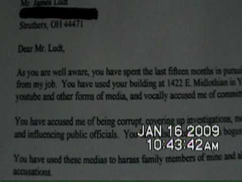 Struthers cop Pat c. Bundy Letter Jan 6, 2009
