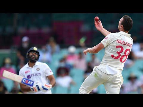 Catch! Rohit falls to birthday boy Hazlewood | Vodafone Test Series 2020-21
