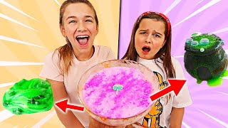 TURN THIS PRETTY SLIME INTO HALLOWEEN SLIME CHALLENGE!  | JKrew