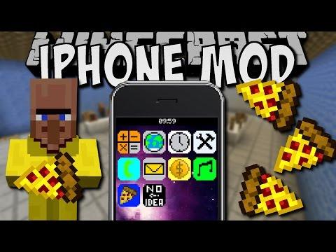 Minecraft IPHONE MOD Pizza Bestellen Musik Hören Deutsch - Minecraft moderne hauser lekoopa