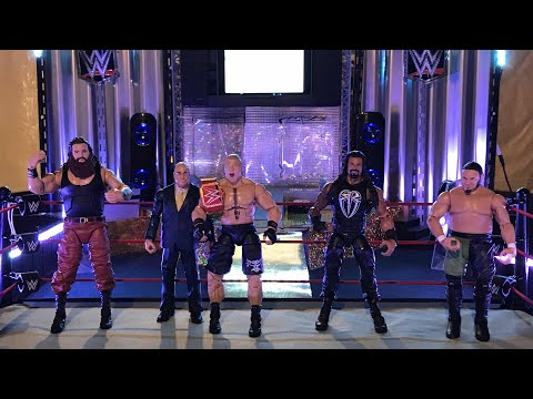 Brock Lesnar vs Roman Reigns vs Samoa Joe vs Braun Strowman WWE Universal Title Match thumbnail