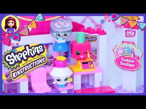 Shopkins Kinstructions Fashion Boutique Beauty Salon Build Review Silly Play - Kids Toys