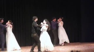 salsa routine on Sawar Loon, stage couple performance- simple duet dance performance