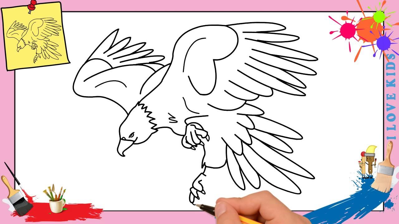 Dessin D Aigle Royal dessin aigle royal - comment dessiner un aigle royal facilement