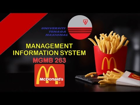 MIS in McDonald's by (UNITEN, KSHAS)