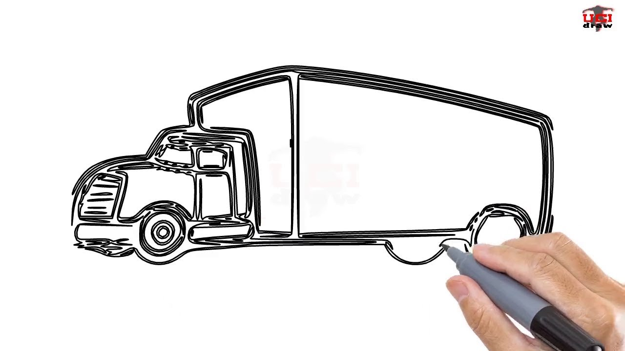 Uncategorized How Do You Draw A Truck how to draw a truck easy step by drawing tutorials for kids ucidraw