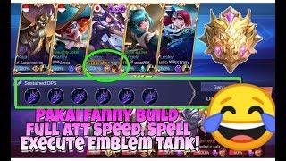 Ngetroll Pakai Fanny Full Build Scarlet Phantom, Spell Execute Emblem TANK! MLBB