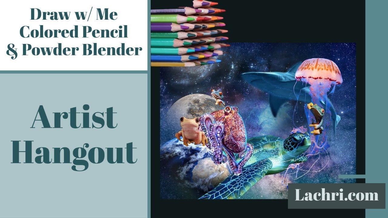 Download Colored Pencil & Powder Blender Live & Artist Hangout Part 15