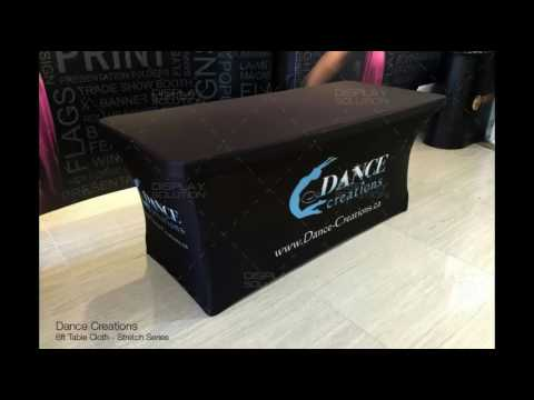 4 Sided Stretch Custom Full Color Table Cover