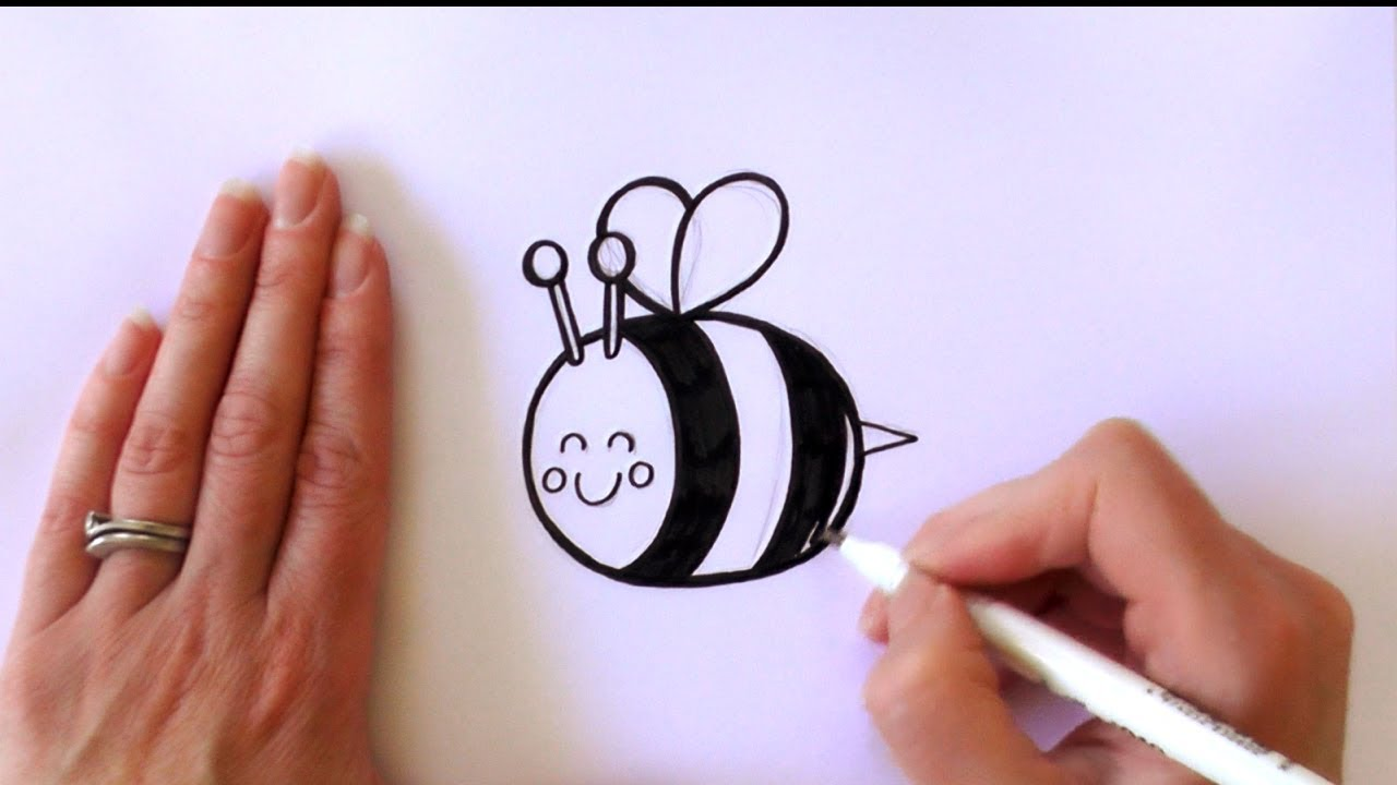 Simple bee drawing - photo#25
