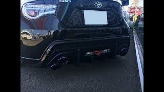 GTNETさんにてトヨタのスポーツカーハチロクのTOMS仕様車を撮影させても...