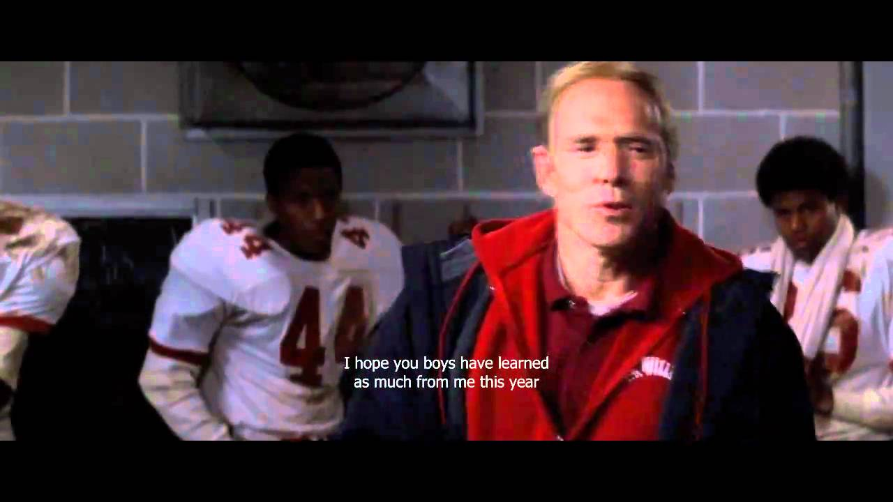 racism in the 1970s in the video remember the titans Movie film football race - racism in the film remember the titans.