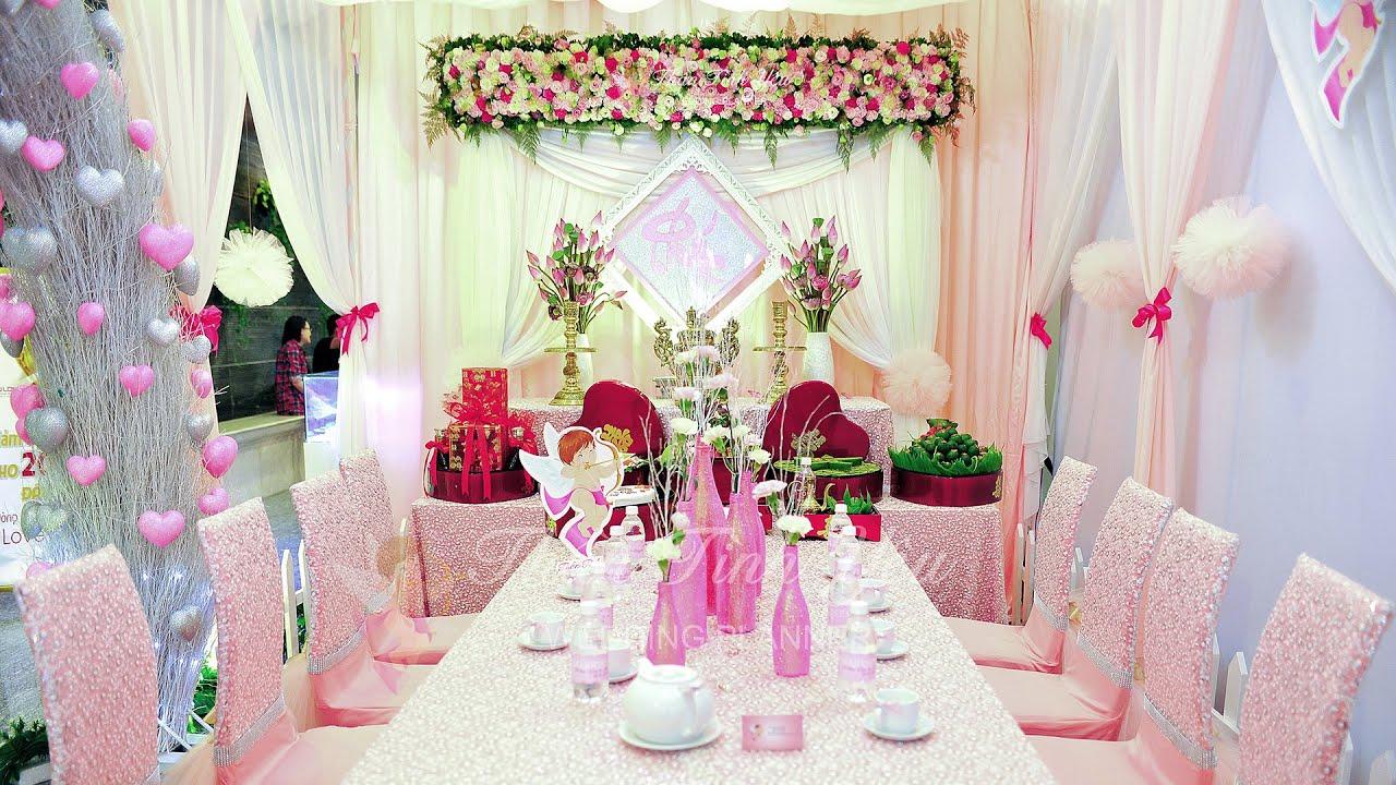 Trang trí tiệc cưới đẹp tại nhà – Dịch vụ cưới hỏi trọn gói Thần Tình Yêu