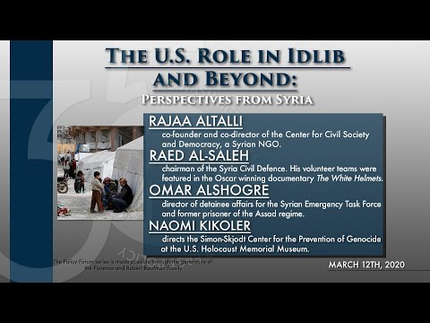 The U.S. Role in Idlib and Beyond: Perspectives from Syria