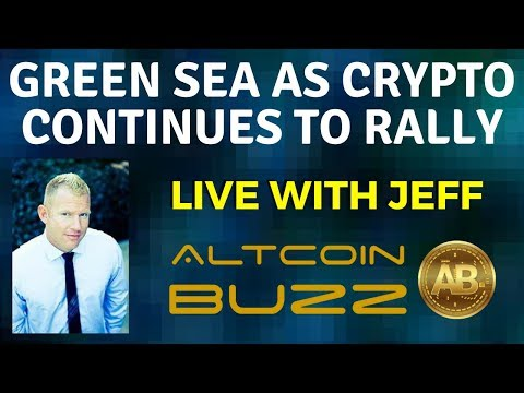 Green Sea as Crypto Continues To Rally!!