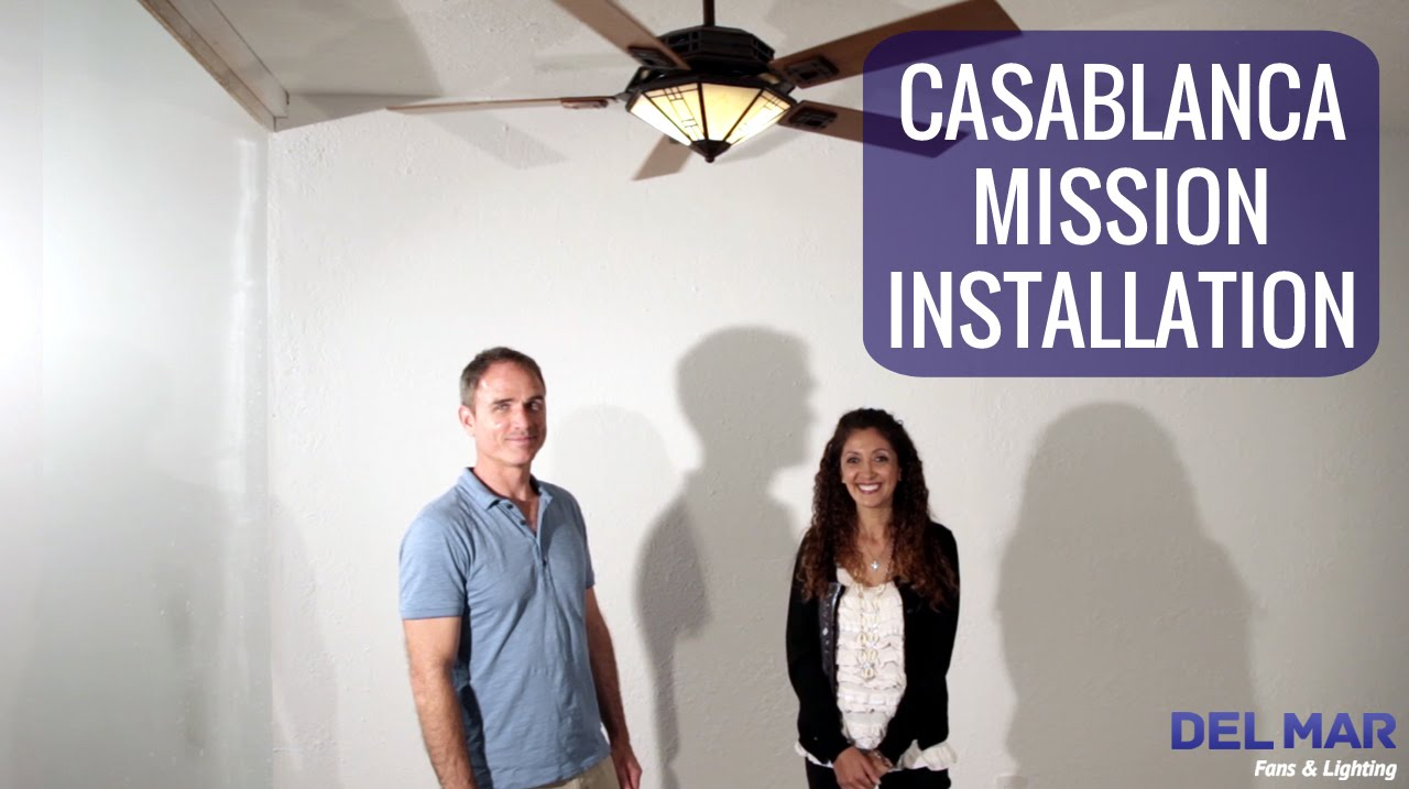 Casablanca mission ceiling fan installation youtube aloadofball Choice Image