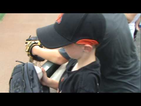 Fernando Rodney Gives Fan A Baseball:Orioles vs Angels