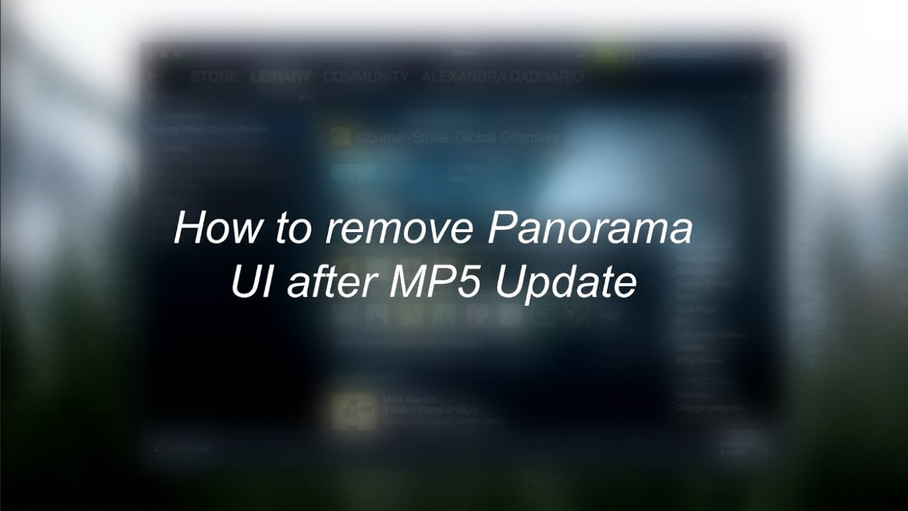 How to remove Panorama UI in CS:GO (New Version)