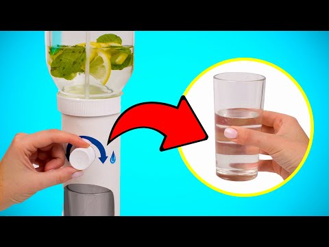 DIY Desktop Water Dispenser Out Of Nutella Jar