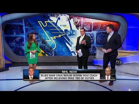 NHL Now:  Blues Coaching Change:  Blues name Berube interim head coach, relieve Yeo  Nov 20,  2018