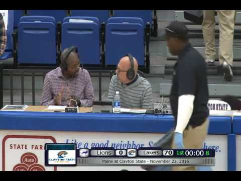 Post Game Interview: Paine at Clayton State - November 23, 2016