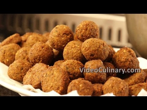 Falafel Recipe - Vegan Middle Eastern Food - Video Culinary