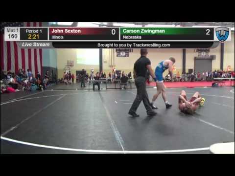 2251 Cadet Men 160 John Sexton Illinois vs Carson Zwingman Nebraska 7860217104