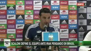Equipo confirmado//Argentina vs Irak//Selección argentina