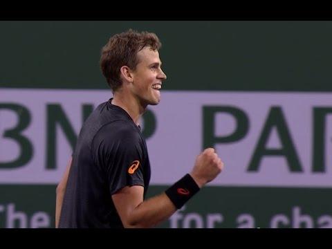 Vasek Pospisil vs Andy Murray - Indian Wells BNP Paribas Open - 2nd Set Tiebreaker