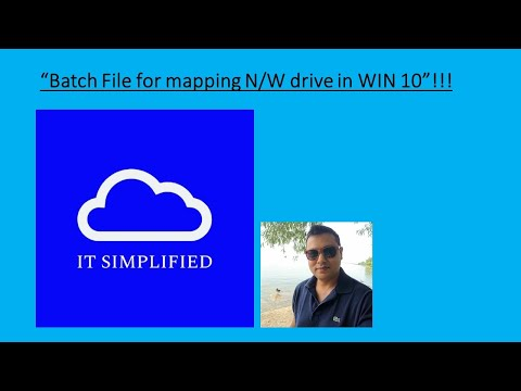 BATCH FILE FOR MAPPING NETWORK DRIVE In WINDOWS 10