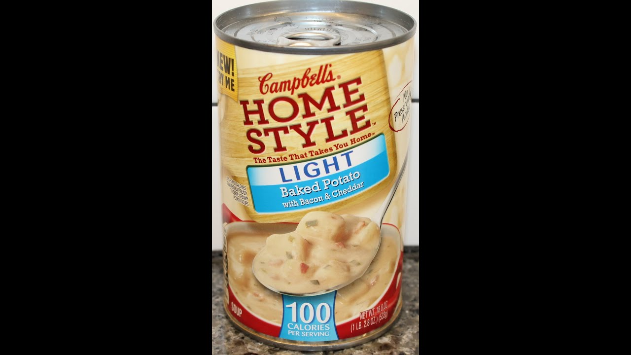Campbellu0027s Home Style Light Baked Potato Soup Review