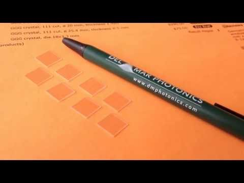 GGG Wafers (Gadolinium Gallium Garnet - Gd3Ga5O12) sales@dmphotonics.com