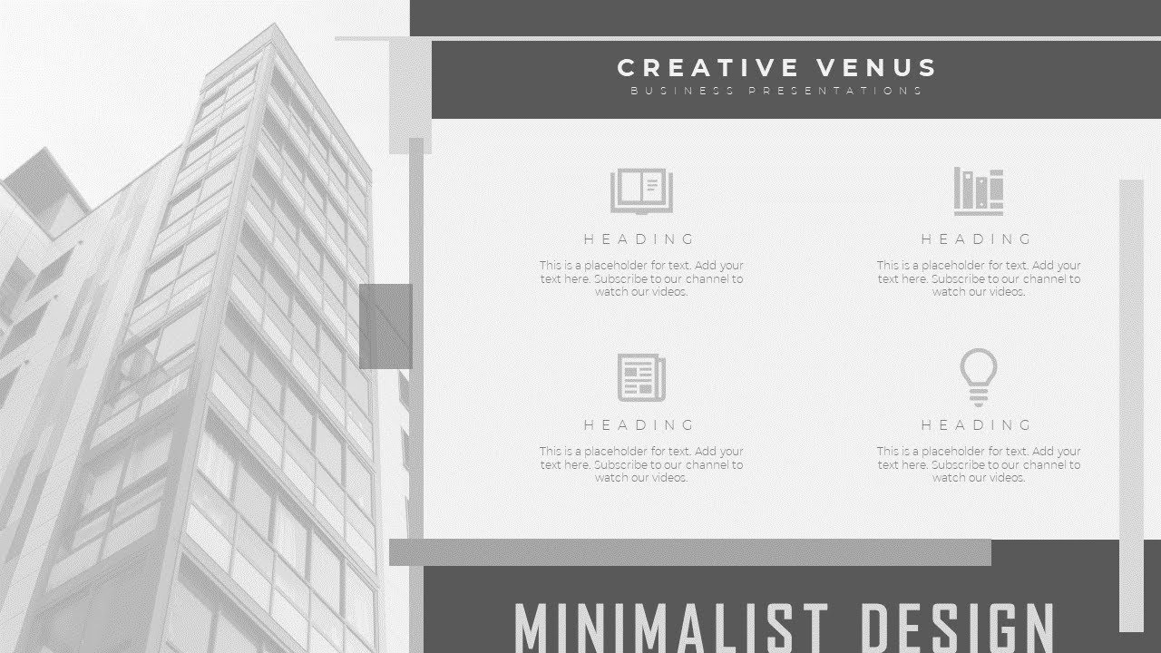how to design minimalist slide for business presentation in