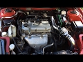 Cold Air Intake Installation 2002 Mitsubishi Eclipse RS (Strawberry)