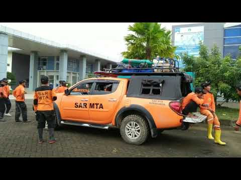 Indonesian Rescue at Flood Pacitan East Java December 2017