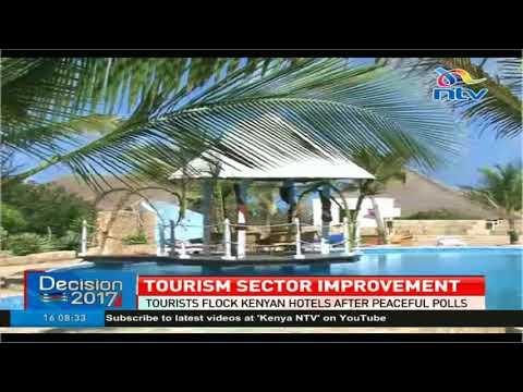 Tourists flock Kenya hotels after peaceful polls