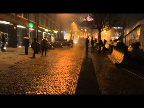 HUGE Fireworks Celebration & Party Utrecht Netherlands New Years Eve WOW Rockets