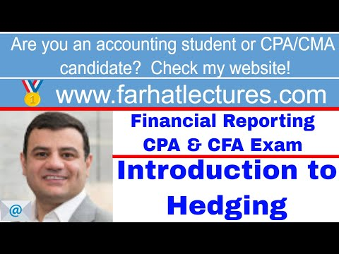 Introduction to hedging ch 11 p 5 CPA exam Intermediate Accounting CMA exam