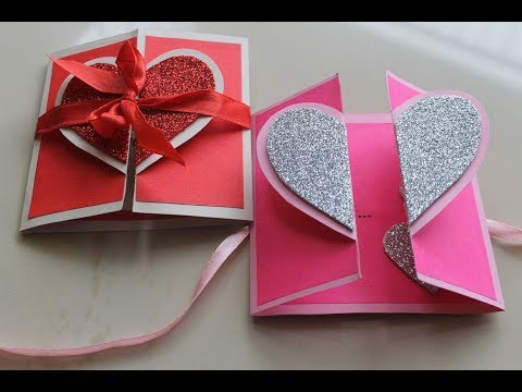 DIY Heart Greeting Card / Handmade Card Tutorial