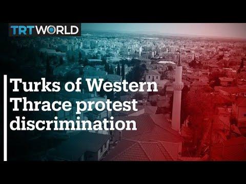 Turks of Western Thrace protest Greek discrimination