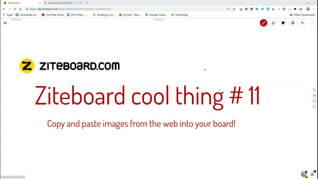Ziteboard cool thing # 11 copy and paste images from the web!