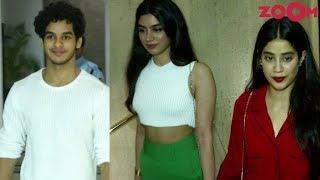 Ishaan Khatter & Janhvi Kapoor With Sister Khushi Kapoor At Manish Malhotra's Party