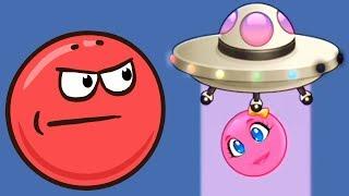 новый КРАСНЫЙ ШАР #3. 7-10 УРОВНИ. Мультик ИГРА New Red Ball 2