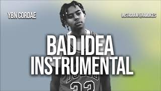 "YBN Cordae ""Bad Idea"" ft. Chance the Rapper Instrumental Prod. by Dices *FREE DL* Video"