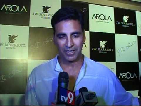 Akshay Kumar At AROLA The Spanish Restaurant In J W MARRIOTT